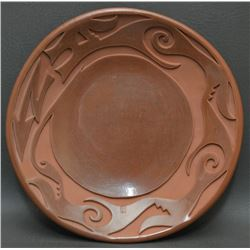 SANTA CLARA INDIAN POTTERY PLATE (Ethel Yazza)