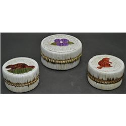 WOODLANDS INDIAN QUILLED BASKETS
