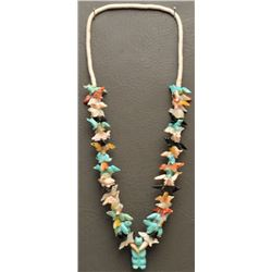 ZUNI INDIAN SINGLE STRAND FETISH NECKLACE