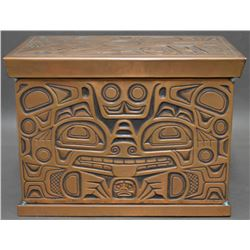 NORTHWEST COAST INDIAN COPPER BOX