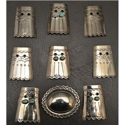 NAVAJO INDIAN  BOOT TABS AND BUCKLE