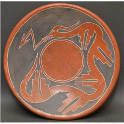 SANTA CLARA INDIAN POTTERY PLATE (TAFOYA)