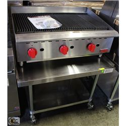"""36"""" RADIANT CHARBROILER & EQUIPMENT STAND"""
