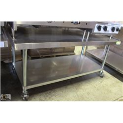 """EQUIPMENT STAND 61"""" X 31"""" X 27.5"""" ON CASTERS"""