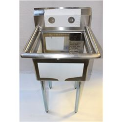 """STAINLESS STEEL SINK 1 TUB 18"""" X18"""" X11"""""""