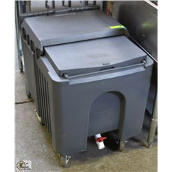 125LB INSULATED ICE CADDY WITH DRAIN