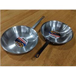 "10"" ALUMINUM FRY PANS - LOT OF 2"