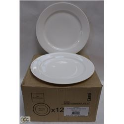 """11"""" INFINITY DINNER PLATES - LOT OF 12 (1 CASE),"""