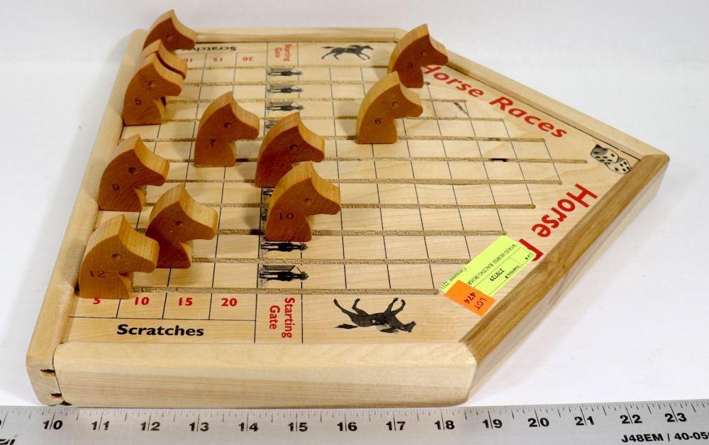 Wood Horse Racing Board Game