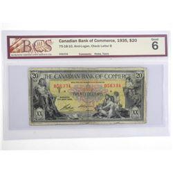 Canadian Bank of Commerce 1935 Twenty Dollar Note.