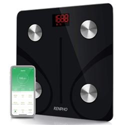RENPHO Bluetooth Body Fat Scale - Smart BMI Scale Digital Bathroom Wireless Weight Scale- Body Compo