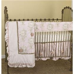 Cotton Tale Designs Front Crib Rail Cover Up Set- Lollipops and Roses- 1-Pack