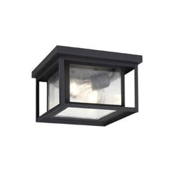 Sea Gull 78027-12 Sea Gull LightingHunnington 2-Light Hanging/Ceiling Outdoor Pendant Fixture- Black