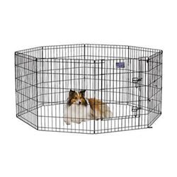 Midwest Black Exercise Pen with Door 24' X 30