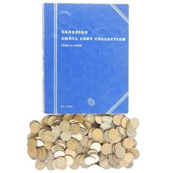 Estate Small Cent - Book and Bag of Coins