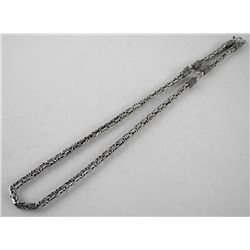 Estate Silver Tube Chain with Enhancer (95gr)