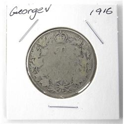 1916 George V Silver 50 Cent