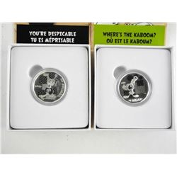 Lot (2) Looney Tunes .9999 Fine Silver $10.00 Coin