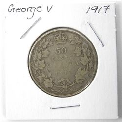 1917 George V Silver 50 Cent