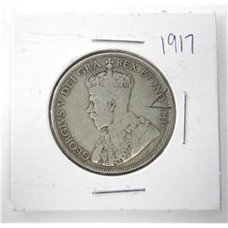 1917 NFLD 925 Silver 50 Cent