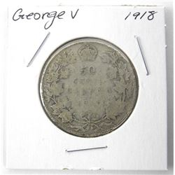 1918 George Silver 50 Cent