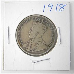 1918 CAD Silver 50 Cent