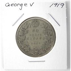 1919 George V Silver 50 Cent