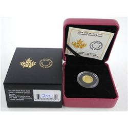 .999 Fine Pure Gold Coin: 50 Cent 'Beaver'