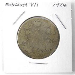 1906 Edward Silver 50 Cent
