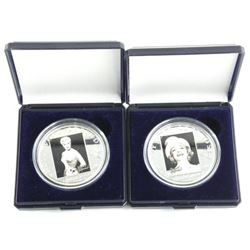 Lot (2) 'Hollywood Legends' $5.00 Coins - 925 Silv