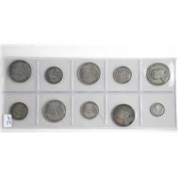 Lot (10) Early Canada Silver NFLD-Coins