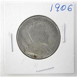 1906 Canada Silver 50 Cent Edward