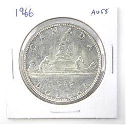 1966 $1.00 .800 Silver AU-55