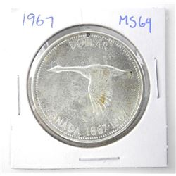 1967 $1.00 .800 Silver MS-64