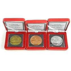 Guatemala Pattern Coins 1995 - 1, 10, 50 Quetzeles