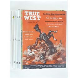 Lot (8) 'True West' Magazines 1950s-1960s