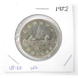 1952 1.00 .800 Silver VF-20. Waterline