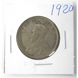 1920 George Silver 50 Cent