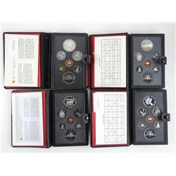 Lot (4) RCM Proof Sets: 1982-1983-1984-1985