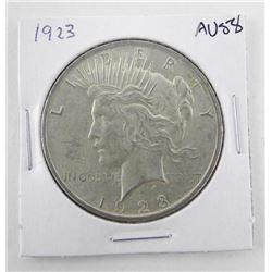 1923 USA Silver Peace Dollar AU58