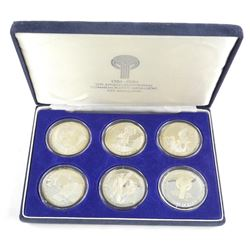 925 Sterling Silver 1981 LA Olympic 6 Coin Set