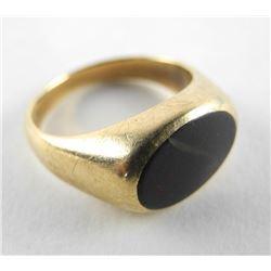 (8) Estate Gents 10kt Gold Onyx Ring (6.1g)