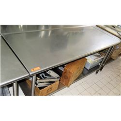 "Stainless Steel Utility Prep Table, 72""L x 30""W x 35.5""H"
