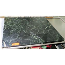 "Large Black Marble Stone Cutting Board, 36""L x 30""W"
