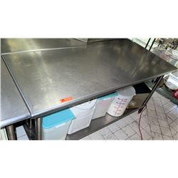 "Stainless Steel Prep Table, 71""L x 29.5""W x 35.5""H"