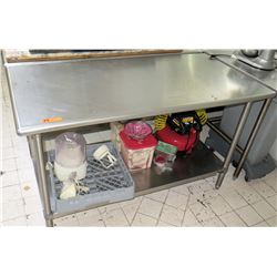 Stainless Steel Working Prep Table, 59.5 L x 29.5 W x 35.5 H