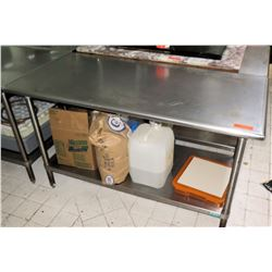 "Advance Foodservice Stainless Steel Prep Table, 60""L x 29.5""W x 35.5""H"