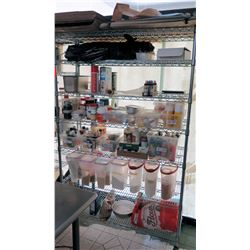 NSF 6-Tier Metal Rolling Shelf, 48 L x 18 W x 75.5 H