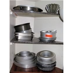 Multiple Misc Baking Pans - Round, Square, Bundt, etc