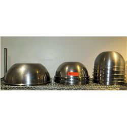 Multiple Misc Stainless Round Mixing Bowls, Misc Sizes